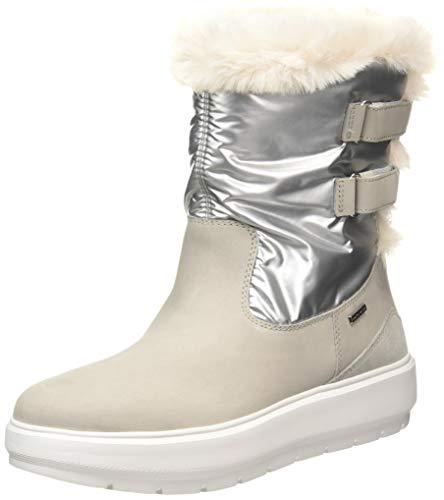 GEOX D KAULA B ABX A LT GREY/SILVER Women's Boots Snow size 39(EU)