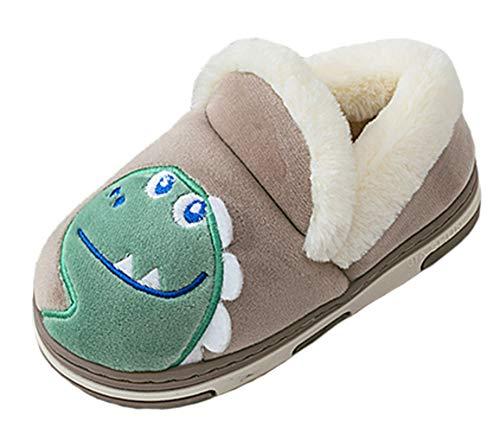 CELANDA Zapatillas Invierno Niños Niñas Zapatillas Interior Casa Caliente Zapatos Suave Algodón Antideslizantes Pantuflas
