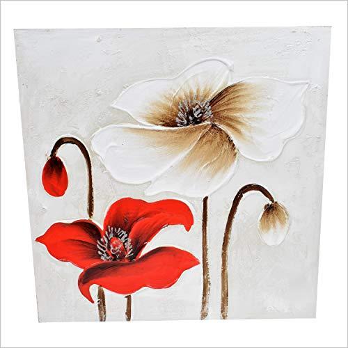 Marco de flores pintado a mano 50 x 50 cm Decoración de...