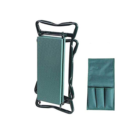 Garden Folding Belt Tool Bag, Pad with Small Cloth Bag Cultivation Cutting Grass Storage Tool,B