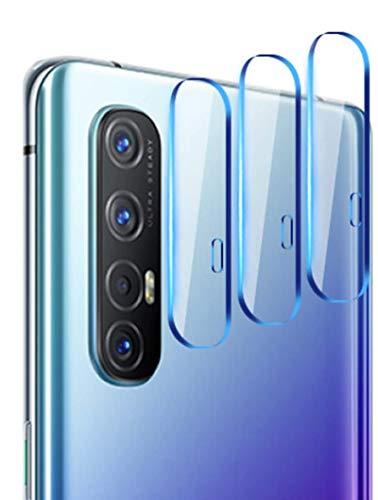 NOKOER Kamera Panzerglas Kompatibel für Oppo Find X2 Neo, [3 Stück] Superdünnes Gehärtetes 2.5D Kamera Schutzglas, 360 Grad Schutzkamera- Transparent