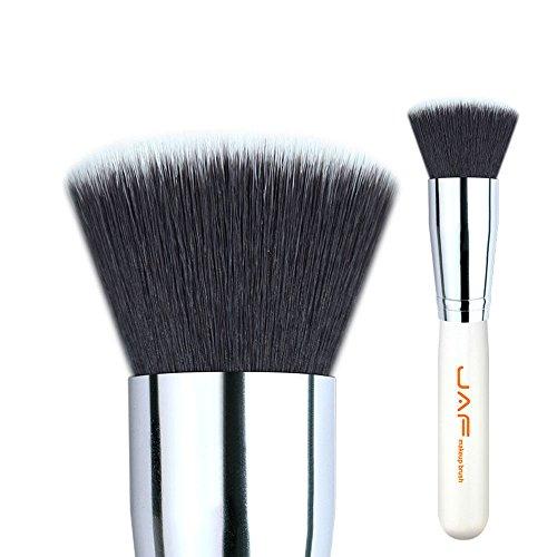 Pinceaux outil 18SSYL Plat Top Kabuki Brosse Extra Large Visage Make Up Brosse Cosmétique Doux Synthétique Taklon Cheveux (Color : White)