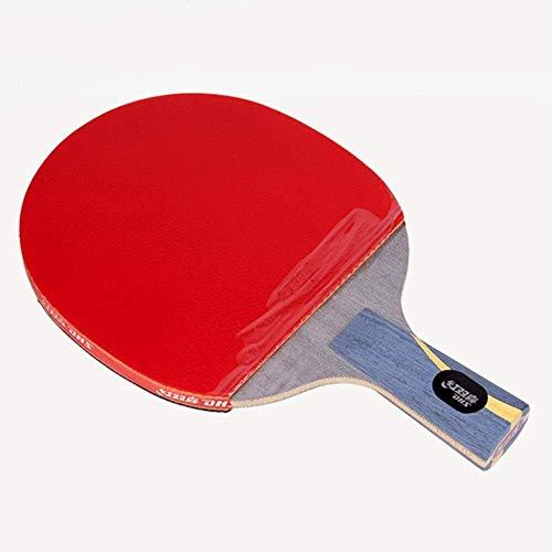 REWD Sets de Ping Pong Paleta de Ping Pong Mesa de Tenis Profesional Bat 5 Capas de Madera Pura Funcionamiento excepcional for Profesionales y avanzados Jugadores / 8 Estrellas/Mango Largo