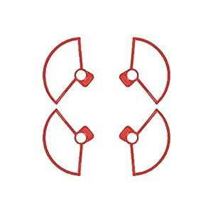 MoreToys 4pcs Propeller Guard Bumper Blade Crash Protector for DJI Spark Mini Quadcopter Drone (Red)