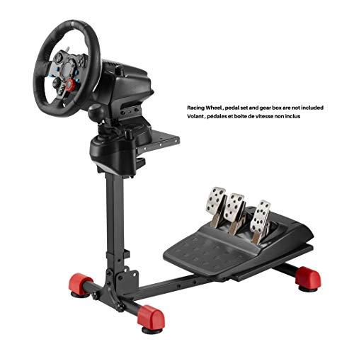 OPLITE WHEEL STAND GT - Universelle Lenkrad-, Pedal- und Getriebehalterung, die mit allen Logitech-, Thrustmaster- und Fanatec-Produkten kompatibel ist.