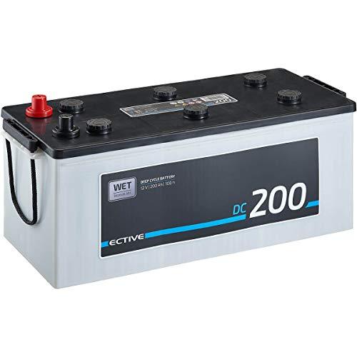 ECTIVE 12V 200Ah Nass Batterie DC-Serie Solar Versorgungsbatterie in 5 Varianten: 90Ah - 260Ah (wartungsfrei)