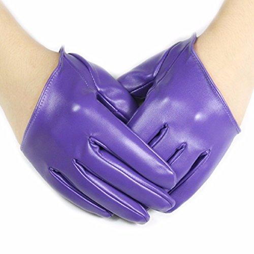 BBSLT Onorevoli metà Palm guanti donna pu guanti in pelle corto bi-sex and the city fashion show GUANTO GUANTI,S,B