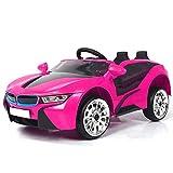 ATAA CARS Super 8 Sport batería 12v - Rosa - Coche eléctrico para niños a batería 12v y Mando a Control Remoto para Padres
