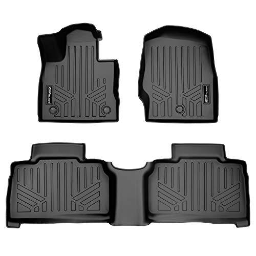 SMARTLINER All Weather Custom Fit Floor Mats 2 Row Liner Set Black for 2020 Ford Explorer