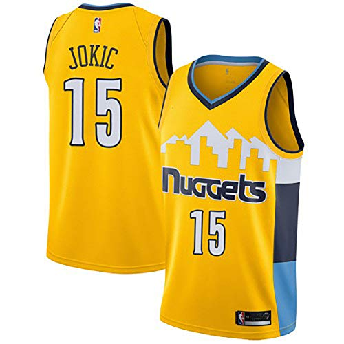 Outerstuff Nikola Jokic Denver Nuggets #15 Youth 8-20 Yellow Statement Edition Swingman Jersey (X-Large (18-20))