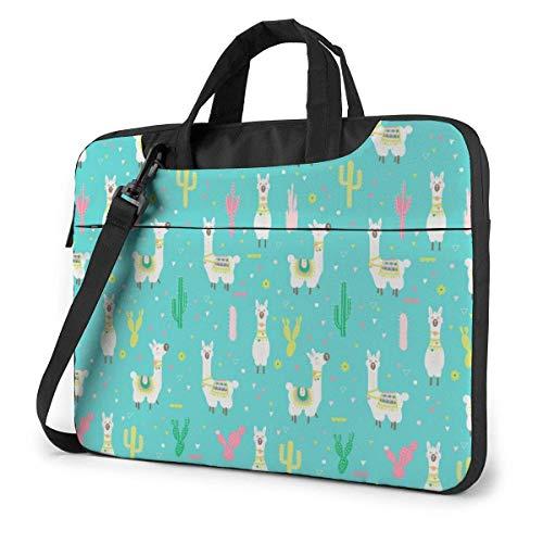 Happy Llama Laptop Sleeve Case 13 Inch Computer Tote Bag Shoulder Messenger Briefcase for Business Travel