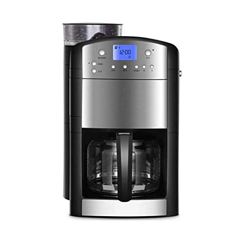 SASAMM Programmable Coffee Maker with Thermal Carafe, Full-Automatic Freshly Grinded Bean Powder Dual-use American Large Capacity Drip Coffee Machine