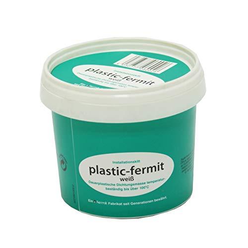 Stabilo-Sanitaer Plastic-fermit Dichtpaste 500g, Dauerplastische Dichtungspaste temperaturbeständig bis 100°C, knetbare Dichtungsmasse Kalt- und Warmwasser geeignet