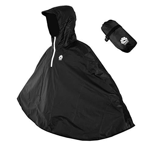 GORIX(ゴリックス) ポンチョ レインコート 雨具 自転車 バイク レインポンチョ かっぱ 完全防水 収納袋付き 携帯可 レディース・メンズ 男女兼用 (AMAGU)