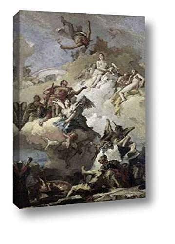 "Apotheosis of Aeneas by Giovanni Battista Tiepolo - 13"" x 20"" Canvas Art Print Gallery Wrapped - Ready to Hang"