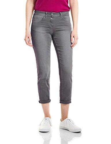 CECIL Damen Scarlett Jeans, Graphit Light Grey 10498, 26W / 28L
