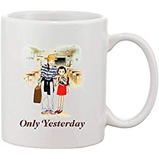 Only Yesterday Main Characters Artwork White Ceramic Coffee and Tea Mug