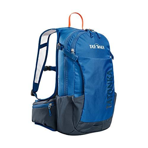 Tatonka Fahrradrucksack Baix 12L - Kleiner, leichter Outdoor-Rucksack mit Helmhalterung und 12 Liter Volumen - Damen und Herren - blau