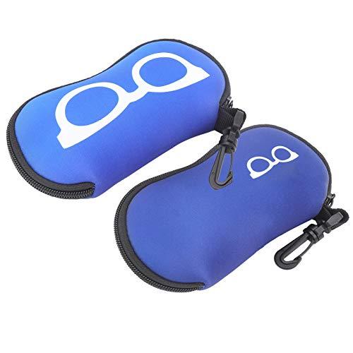 Nichhany 2pcs Gafas de Sol Bolsa de Transporte Impermeable Gafas Resistentes a roturas Estuches con Cremallera Protector para Viajes de Buceo al Aire Libre