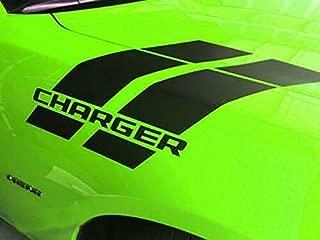 CHARGER Hash Stripes for Dodge Charger Mopar 392 Hemi 2014 2015 2016 2017 for hood fender (MULTI-COLOR or REFLECTIVE)
