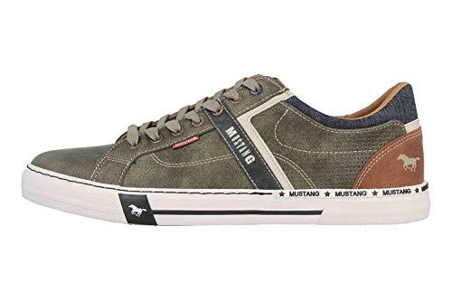MUSTANG Herren 4146-303-700 Sneaker, Grün (Dunkelgrün 700), 41 EU