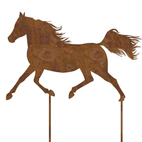 Deko Pferd Metall rostfarben zum stecken. Länge 63cm