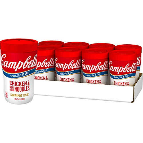 Campbell's Sipping Soup, Chicken & Mini Round Noodles, 10.75 Ounce Cup