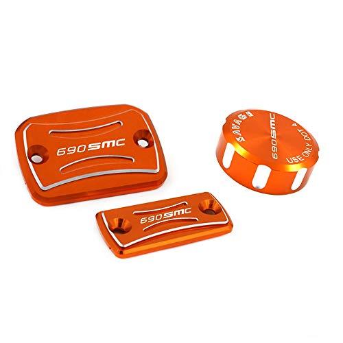 CHENWEI- Vorn Hinten Bremsen-Kupplungs-Zylinderabdeckung Reservoir Motorrad-Zubehör-Öl-flüssige Cap Tank-Cup for KTM 690 SMC-R 2014-2019 (Color : Orange)