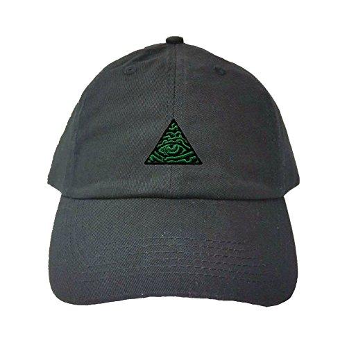 Adjustable Black Adult Illuminati Eye of Providence Embroidered Dad Hat