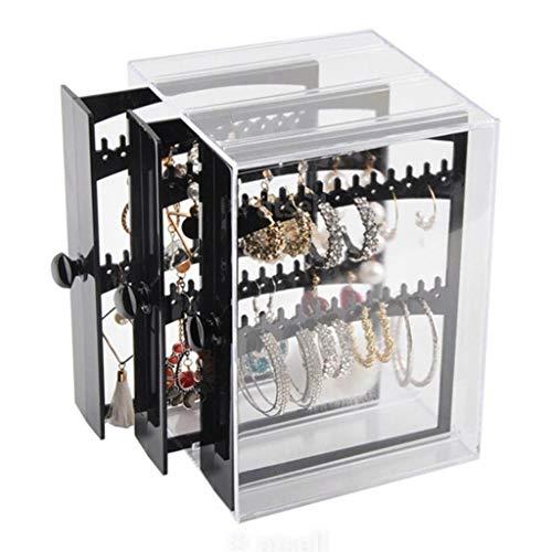 YUTR Cuadro de almacenamiento de la caja de almacenamiento de la exhibición del pendiente Caja de almacenamiento de la caja de almacenamiento Transparente caja de almacenamiento de la caja de almacena