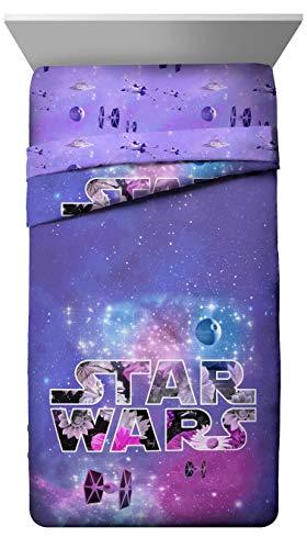 STAR WARS EP7Regla Galaxy Individual/Full Reversible Comforter, Purple Galaxy F/Q, Matrimonial/Queen, 1, 2