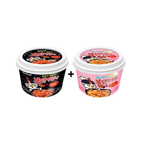 Samyang 2pcs(1 Carbo + 1 Original) Buldak (Roast Chicken) Hot Spicy Rice Cake Tteokbokki