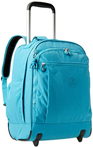 Kipling Women's Gaze Large Rolling Backpack, Turquoise Sea, One Size