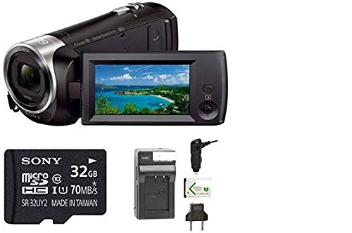 Sony HDRCX440 Handycam HD Camcorder w/ 32GB Micro SD Card & Battery/Charger -  SurfaceSpecials, SNCX440-KIT1