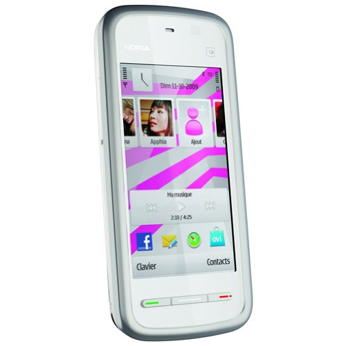 Nokia 5230 Smartphone (8,1 cm (3,2 Zoll) Bildschirm, Touchscreen, 2 Megapixel Kamera) weiß/silber