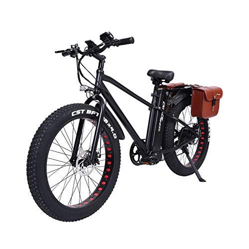 26 Zoll Elektrofahrrad Mountainbike 750W 20Ah Strand Cruiser Snow Fahrräder - 45Km/h Tempomat & 60Km Reichweite - All Terrain Bike Für Erwachsene (Mit Sitztasche)