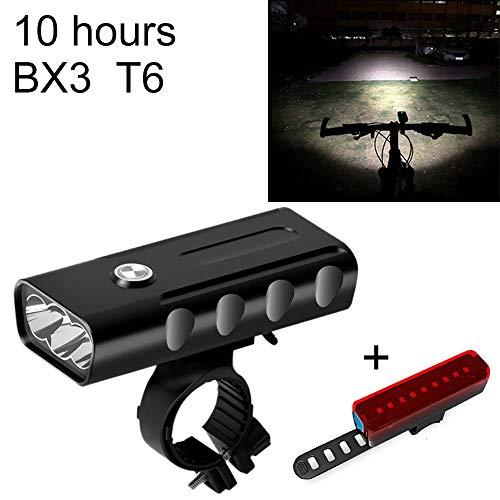 OPNIGHDYMD Luz de Bicicleta, Faro de Bicicleta Recargable USB Luz Delantera de Bicicleta Luz de Bicicleta de montaña Linterna LED con 3 Modos, luz de Bicicleta Impermeable IPX5
