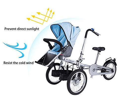 ABYYLH Bicicleta Plegable Paseo Fat Bike Unisex Triciclo Portátil