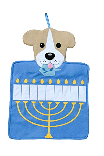 Happie Hare Hanging Holiday Advent Calendar with Pockets - Countdown to Christmas for Kids & Family - (Dog Hanukkah Calendar)