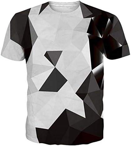 Hombre 3D Impreso Patrón de Manga Corta Cool Graphic Verano Transpirable Camiseta