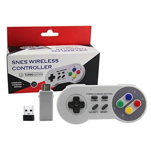Controle Sem Fio Turbo Classic Mini Nintendo Nes Snes Wii PC