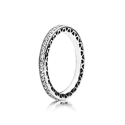 Pandora Damen-Ring Unendliche Herzen 925 Silber Zirkonia transparent  (19.1) - 190963CZ-60mm