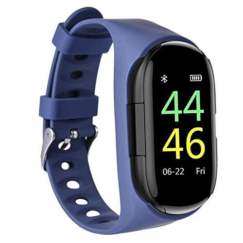 Smartwatch 2 in 1 con auricolari wireless Tracker fitness con auricolari (Blue)