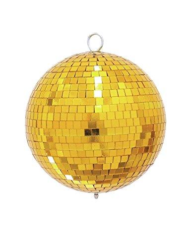 Eurolite Spiegelkugel 20cm gold | Discokugel Spiegelkugel mit goldenen Facetten | Mirrorball für die ganz besondere Deko