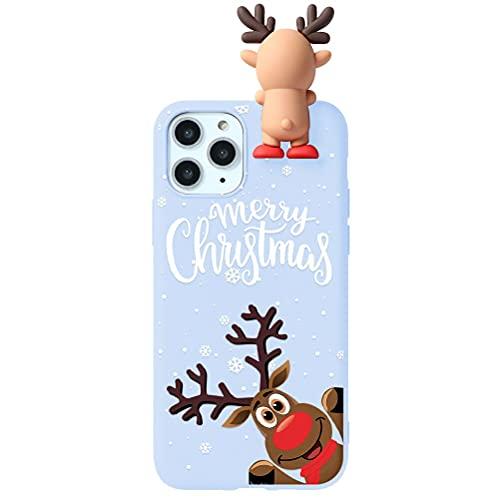 Yoedge Funda Compatible con Samsung Galaxy J4 Plus 6'',con Dibujos Púrpura 3D Cartoon patrón Suave TPU Silicona Protectora Antigolpe Bumper Ultrafina Navidad Cover para Galaxy J4 Plus, Alce 1