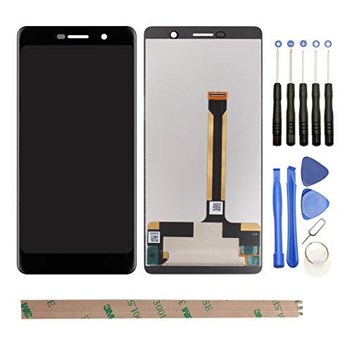 """YHX-OU 6.0\"""" LCD Für Nokia 7 Plus TA-1041 TA-1062 TA-1046 LCD Display Touchscreen Ersatz Bildschirm mit Komplett Werkzeug (Schwarz)"""
