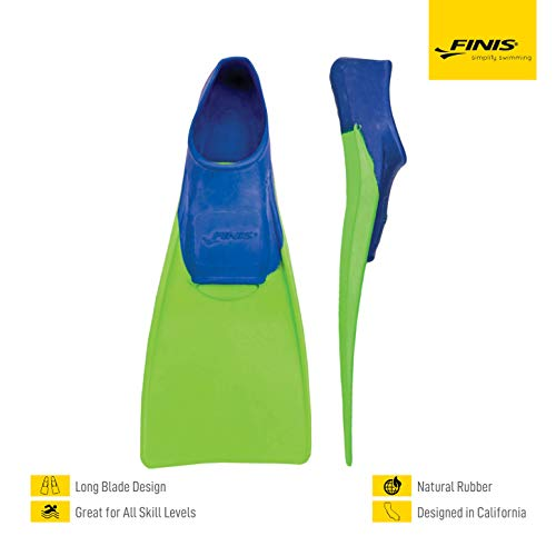 FINIS Kinder Floating-8-11 Swim Fin, blue/lime green, XXXS - EU 26-29