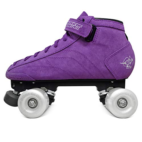 Bont Skates | Prostar Purple Suede Roller Skates with Glow Light Up Led Luminous Wheels | Indoor and Outdoor | Youth - Boys - Girls - Men - Women (7/39)