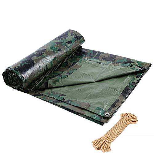 BRFDC Tarpaulin Waterproof Heavy Duty Camouflage Awning Tarpaulin Rain Shed Cloth Outdoor Rainproof Heat Insulation Tarpaulin, Customized, 100G/M (Color : S, Size : 5X6M)