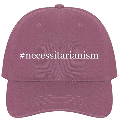 The Town Butler #Necessitarianism - A Nice Comfortable Adjustable Hashtag Dad Hat Cap, Pink